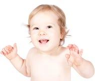 Weinig gelukkige baby Stock Afbeelding