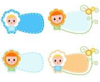 Weinig Gelukkige Chamomille-Baby vector illustratie