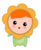 Weinig Gelukkige Chamomille-Baby Royalty-vrije Stock Foto's