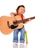 Weinig gitarist. Stock Afbeeldingen