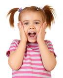 Weinig grappig meisje Stock Foto