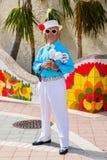 Weinig Havana Street Performer royalty-vrije stock afbeeldingen
