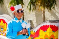 Weinig Havana Street Performer royalty-vrije stock foto's