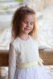 Weinig het mooie meisje dromen Royalty-vrije Stock Foto's