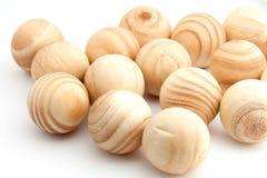 Weinig houten ballen. Stock Foto