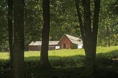 Weinig huis in hout royalty-vrije stock afbeelding