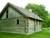 Weinig Huis op de Prairie Stock Foto