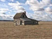 Weinig Huis op de Prairie Stock Afbeeldingen