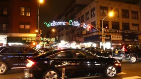 Weinig Italië in de Stad van New York stock videobeelden