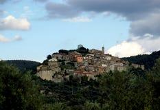 Weinig Italiaans dorp stock afbeelding