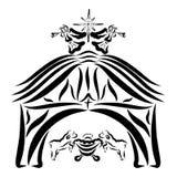 Weinig Jesus, lammeren, ster en engelen, loods royalty-vrije illustratie