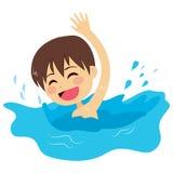 Weinig Jong geitje het Zwemmen royalty-vrije illustratie