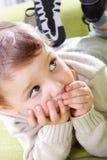 Weinig jongen (3 jaar oud). stock afbeelding