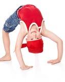 Weinig jongen in dans stock afbeelding