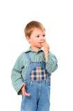 Weinig jongen die koekjes eet Royalty-vrije Stock Fotografie