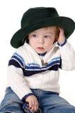 Weinig jongen in een hoed Royalty-vrije Stock Afbeelding