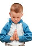 Weinig jongen het bidden Royalty-vrije Stock Fotografie