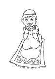 Weinig jongen het bidden Royalty-vrije Stock Afbeelding