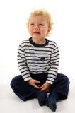 Weinig jongen het schreeuwen Royalty-vrije Stock Fotografie