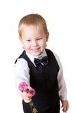 Weinig jongen met boeket 3 Royalty-vrije Stock Fotografie