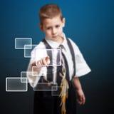Weinig jongens dringende hoogte - technologietype stock illustratie