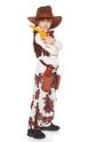 Weinig jongenscowboy Stock Foto's
