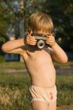 Weinig jongensfoto Royalty-vrije Stock Foto's