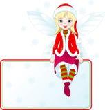 Weinig kaart van de de feeplaats van Kerstmis Stock Afbeelding