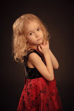 Weinig kalm meisjesportret Royalty-vrije Stock Afbeeldingen