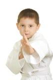 Weinig karatejongen Royalty-vrije Stock Foto's