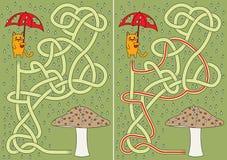 Weinig kattenlabyrint royalty-vrije illustratie