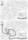 Weinig kattenlabyrint stock afbeelding