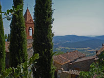 Weinig kerk in Civitella in Italië Stock Foto
