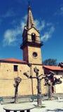 Weinig Kerk op Bergtoren Royalty-vrije Stock Foto