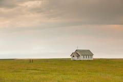 Weinig Kerk op de Prairie stock afbeelding