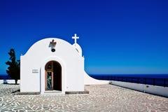 Weinig kerk in Rhodos, Griekenland Stock Afbeelding