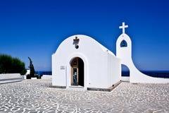Weinig kerk in Rhodos, Griekenland Royalty-vrije Stock Foto's