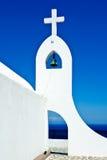 Weinig kerk in Rhodos, Griekenland Stock Foto's