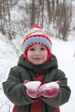 Weinig kind het glimlachen Stock Foto's