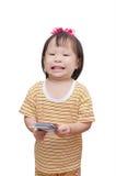 Weinig kind met geld Stock Afbeelding