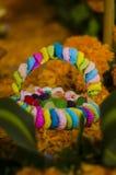 Weinig kleurrijke mand Stock Afbeelding