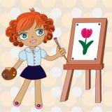 Weinig kleurrijke schilder Royalty-vrije Stock Foto's