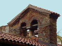 Weinig klokketoren in Ohrid Stock Afbeelding