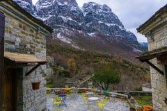 Weinig koffie in Papigo van Zagorochoria in Epirus Griekenland Stock Fotografie