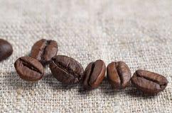 Weinig koffiebonen stock foto