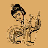 Weinig Krishna Royalty-vrije Stock Foto's