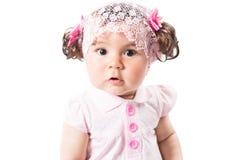 Weinig leuk baby meisje in roze kleding stock fotografie afbeelding 21752262 - Baby meisje idee ...