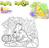 Weinig leuke dinosaurus, grappig illustratie kleurend boek vector illustratie