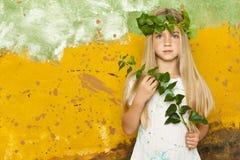 Weinig meisje van de klimopfee royalty-vrije stock fotografie