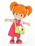 Weinig Meisje van de School stock illustratie